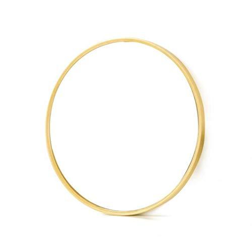 Make-up spiegel make-up spiegel gouden ronde spiegel van glas metaal ingelijst HD wandspiegel voor wastafel, badkamer of slaapkamer 70cm