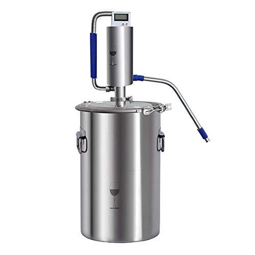 HYDDG Kit de destilador de alcohol para el hogar aceite esencial destilador de acero inoxidable alto sello con para DIY whisky brandy agua destilada hidrorolados vino