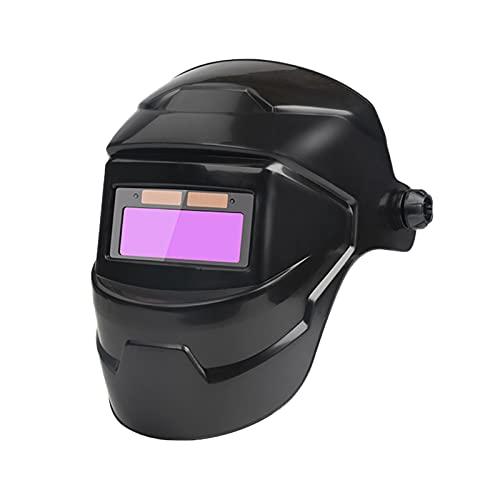 Casco solare per saldatura, LED auto oscuramento professionale con ampia gamma di tonalità regolabile 4/9-13 per Mig Tig Arc W Elder M Ask (nero)