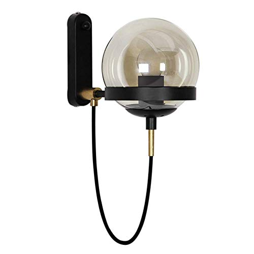Wandlamp Lobby van het hotel eenvoudig modern Retro American Restaurant Cognac glazen bol brons wandlamp ZHAOJBDD Mooie wandlamp
