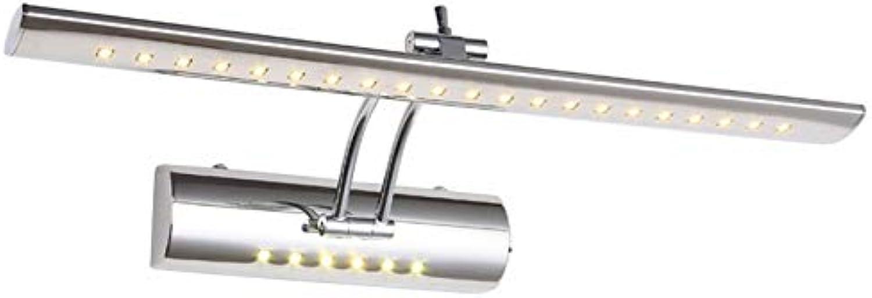 XY&XH Wandlampe, 700mm verstellbares Badezimmerlicht über Spiegelschrank 85-265V 9W kühle warmweie Eitelkeitswandleuchte mit Schalter, kaltwei