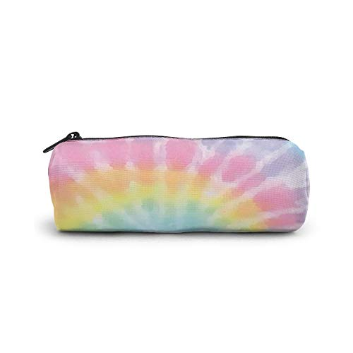 Pastel Tie Dye Pencil Case Holder Zipper Pen Bag Pouch Students Stationery Small Travel Storage Cosmetic Makeup Bag Purse