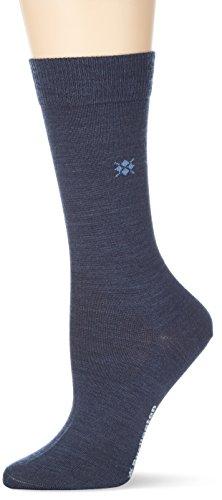BURLINGTON Damen Socken Bloomsbury - Schurwollmischung, 1 Paar, Blau (Dark Blue Melange 6688), Größe: 36-41