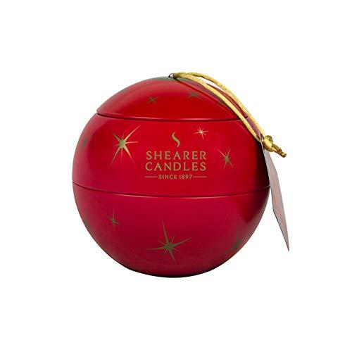 Shearer Candles - Vela de Navidad (11 x 10,5 x 10,5 cm), diseño de manzana roja y canela