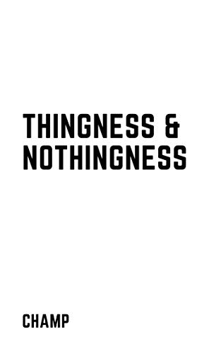 Thingness & Nothingness (English Edition)