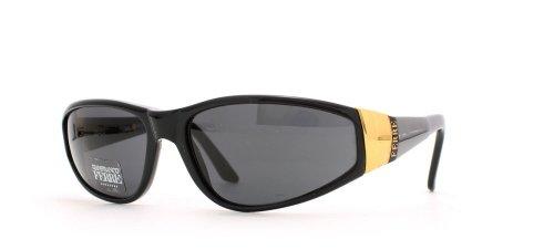 Gianfranco Ferre 310 807 Damen-Sonnenbrille, quadratisch, zertifiziert, Vintage-Stil, Schwarz