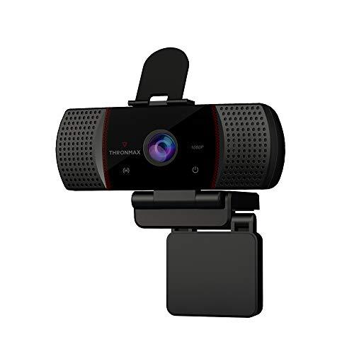 Thronmax Stream Go X1 Webcam (X1), Full HD 1080p/1920x1080 mit rauschreduzierendem Mikrofon und HDR Technologie für professionelle HD Aufnahmen in Studioqualität beim Podcast / Streamen / Chat / etc.