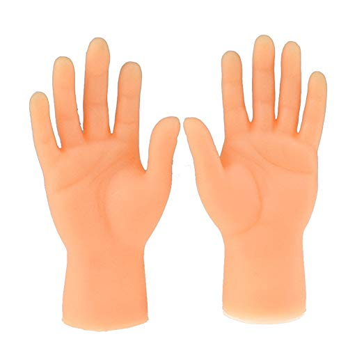 Sendgo Screepy Halloween Mini Finger Hands Tiny Left Right Hand for Game Party Costume