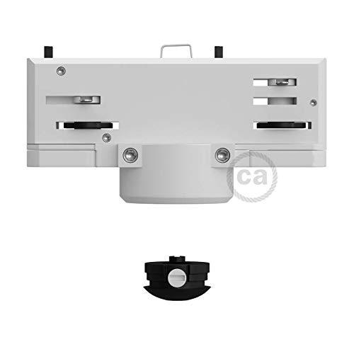Creative-Cables Multi-Adaptador suspensión Eutrac para Carril electrificado trifásico en Color Blanco