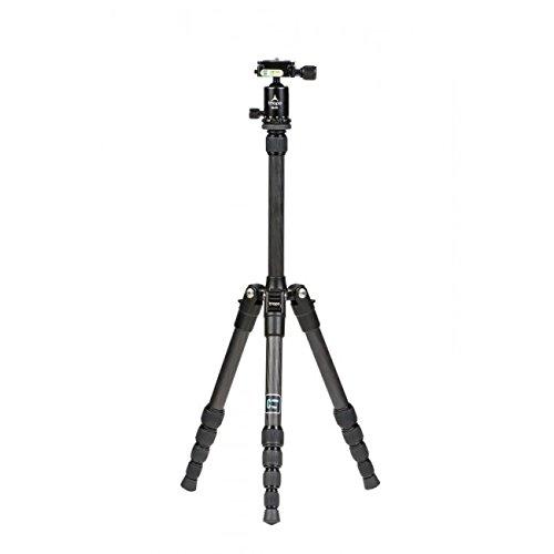 Triopo M130+ kk0s Stativ + Kopf Version Traveller klappbar aus Karbon maximale Höhe 130cm Tragkraft 1kg für alle Kameras