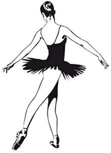 Design moderne Ballet danse sticker mural ballerine sticker mural Art peintures murales décor à la maison salon décoration filles chambre décalcomanies 44Cmx61Cm