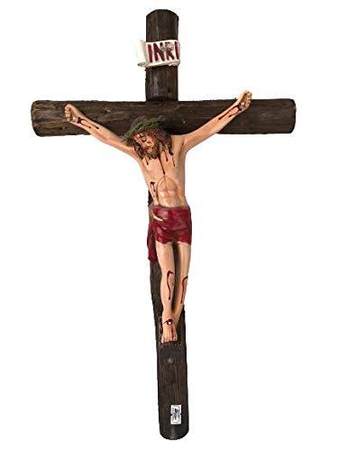 "20"" Crucifijo Tronco De Madera , Round Wood Wall Crucifix #18634 Hecho En Mexico"
