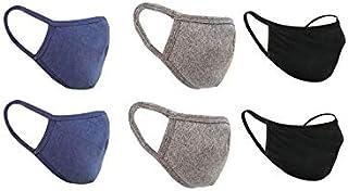 nestroots Cotton Face Mask Pack of 6 Washable Reusable Face Masks  Soft Earloop/Mouth Nose cover Face Masks Men Women Kids...