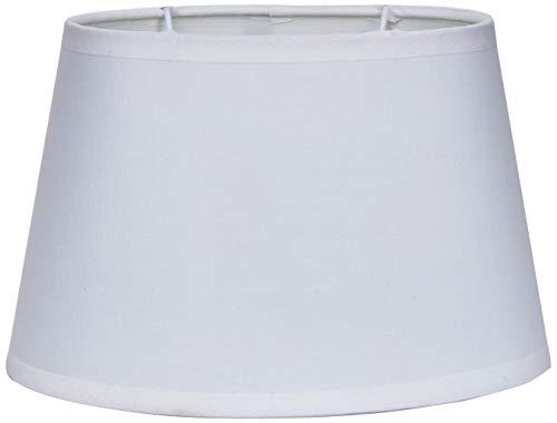 Better & Best Oval 19,5 Cm Blanca Pantalla de lámpara de Algodon, Forma Ovalada, Lisa, de 19,5x13,5 cm, Color