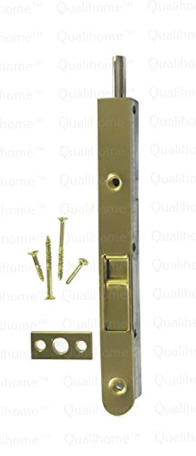 Premium Quality Door Flush Bolt with Strike and Screws (Brass)