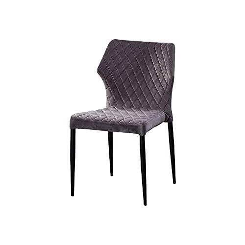 AINPECCA Esszimmerstuhl aus Samt, gepolstert, mit Metallbeinen, Retro-Design, Frisierstuhl (grau, 1)