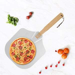 Pala para pizza con mango de madera desmontable y pala de aluminio, amplia superficie, pala para pizza para hornear pizza/pan/barbacoa, 30 x 60 cm