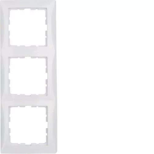 Berker S1–Rahmen 3Elemente Serie 1Glanz Weiß Polar
