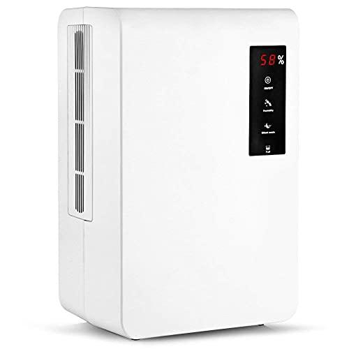 QCSMegy Deshumidificador eléctrico portátil, con secador Inteligente silencioso táctil LED para baño/Dormitorio/baño/Caravana/clo et, Blanco