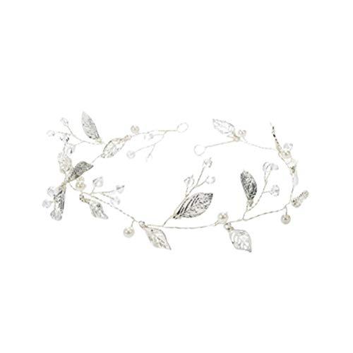 Diadema de perlas de diamantes de imitación de aleación hecha a mano...
