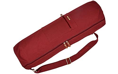 Chin Mudra Sac à Tapis de Yoga Large-Bag Coton Bio 72cm X 22cm - Bordeaux