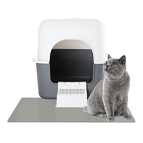 Sfozstra Cat Litter Box with Pedal, Fully Enclosed Leak-proof Urine Litter Box for Small Cats Under...