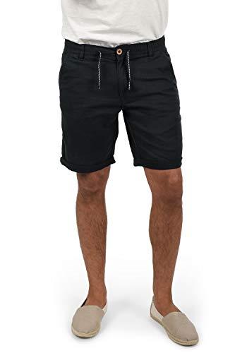 Blend Lenno Herren Leinenshorts Kurze Leinenhose Bermuda, Größe:XXL, Farbe:Black (70155)