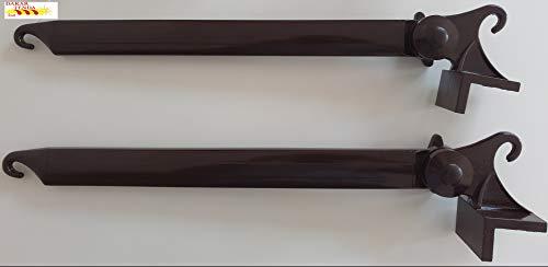 Par de abrazaderas de cortina de sol color marrón (50 cm) oferta especial