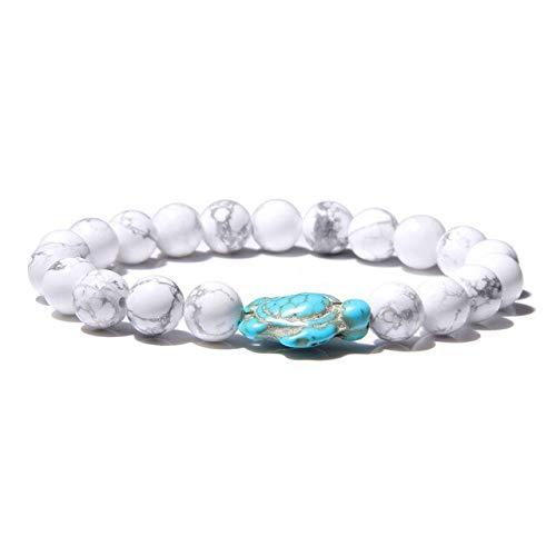 KEJI Fashion Women Bracelet Natural Stone Turquoises Beads Bracelet Blue Tortoise Charm Bracelet For Women Lucky Energy Jewelry Gifts