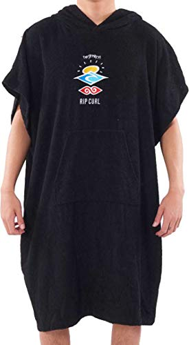 RIP CURL Wet AS Poncho 2021 Washed Black