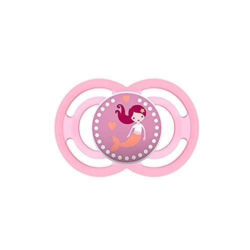 MAM Chupete Perfect S137 - Chupete con Tetina extra fina y flexible de Silicona SkinSoftTM ultrasuave para Bebés de 6+ meses, Rosa (1 unidad) con caja auto Esterilizable, Versión Española