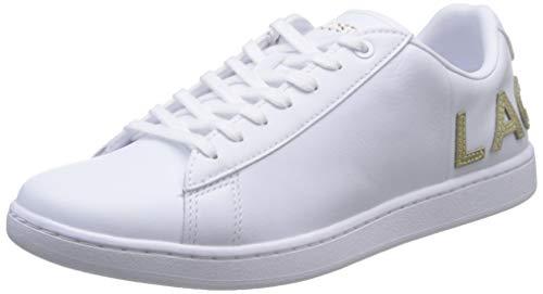 Lacoste Carnaby Evo 120 6 Us SFA, Sneaker Donna, Bianco (Wht/Wht 21g), 39 EU