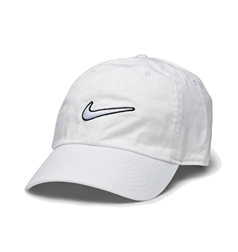 Nike Heritage 86 Essential Swoosh Cap, White/White, One Size