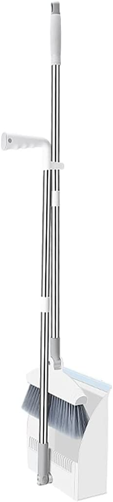 Lnrueg Broom and Ranking TOP2 Dustpan Set Home Standing Dustpa Department store Foldable