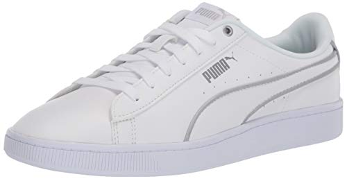 PUMA Women's Vikky V2 Hem Basketball Shoe, White Silver, Numeric_11
