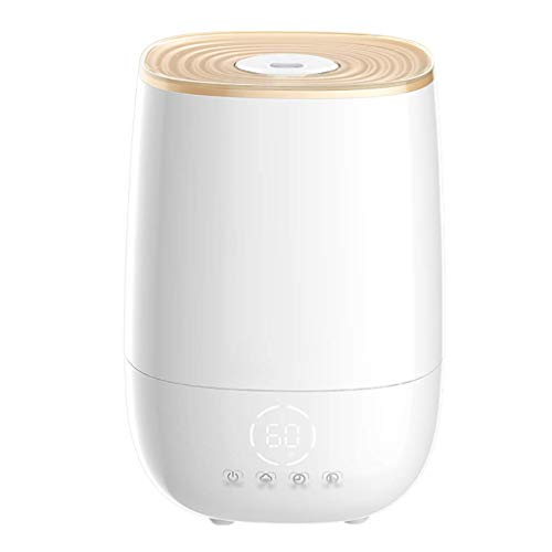 SCJ 5L Cool Mist Humidifier Large Water Tank,Visual Water Gauge Use Up To 17 Hours Auto-Off Quiet Air Humidifier,for Bedroom Baby Room Living Room