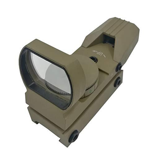 Hauska Rot Grün Dot Reflex Sight Leuchtpunkt Laser Zielvisier Holographic Scope 4 Reticles für Jagd Softair Pistole und Armbrust (braun)