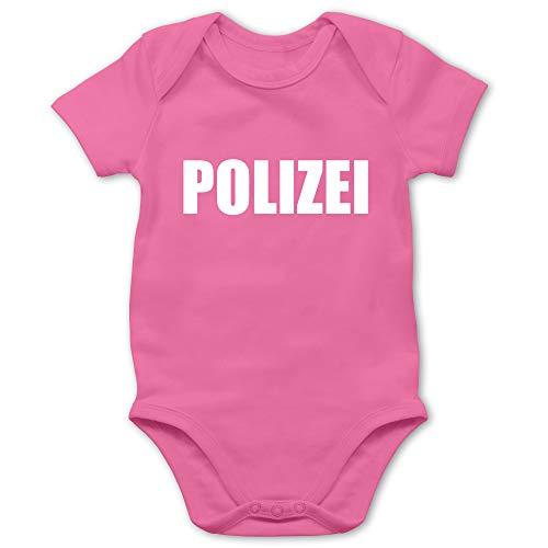 Shirtracer Karneval und Fasching Baby - Polizei Karneval Kostüm - 6/12 Monate - Pink - Baby kostüm neugeboren mädchen - BZ10 - Baby Body Kurzarm für Jungen und Mädchen