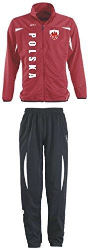 Aprom-Sports Polen Trainingsanzug - Sportanzug - S-XXL - Fußball Fitness (XXL) (XL)