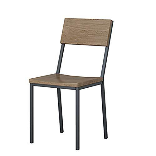 DCCYZ-YJ Amerikaanse smeedijzeren dining Chair Distressed vrijetijdsstoel eenvoudige leerkraan enkele stoel hotelstoel