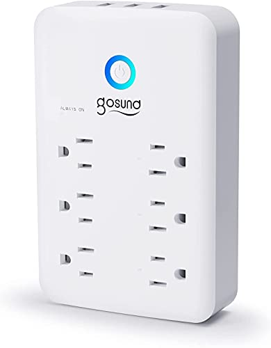Smart Plug Outlet Extender, Surge Protector Power Strip Work with Alexa, Google Home, Wall Multi...