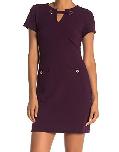 Tommy Hilfiger Women's Legacy Scuba Crepe Two Pocket Dress, Aubergine Solid, 2