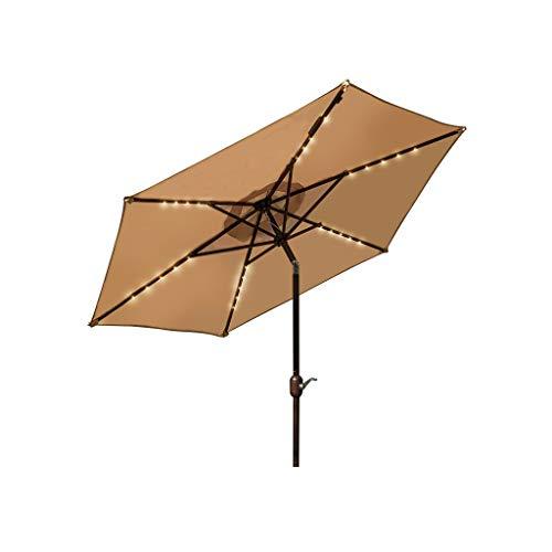 JSY Paraguas paraguas paraguas paraguas paraguas paraguas puestos comerciales de gran tamaño al aire libre grandes cuadrados rectangulares (color: beige, tamaño: 2,5 m)