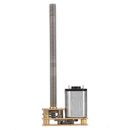 1024GA20 DC 6V / 12V Micro Reductor Motor Reducción de Velocidad Flip-chip Gear Motor Eléctrico con eje de Salida Larga M4 x 55mm(12V 100RPM)