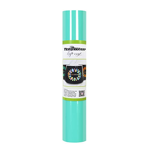 TECKWRAP Glossy Adhesive Vinyl Decal Roll 1ft x 5ft, Glossy Mint
