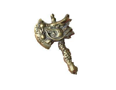 Fashion158 Antieke Diverse Effen Oude Messing Kraan Bijl Hanger heeft een draak Koper Hanger oude Object Ornamenten