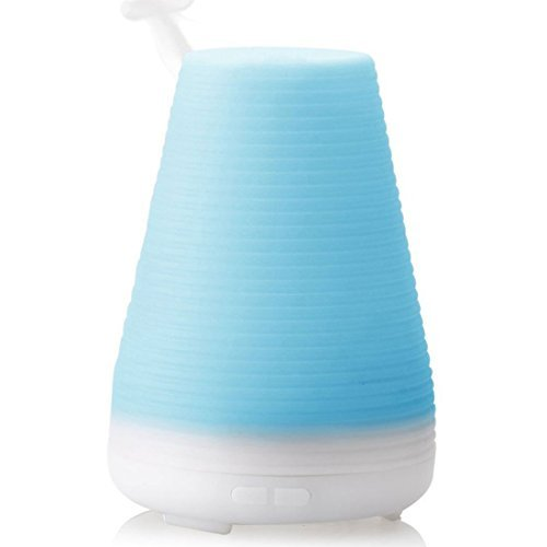 DealMux 100ml Essential Oil Cool Mist Humidifier with Adjustable Mist Mode, Waterless Auto Shut-off and 7 Color LED Lights for Home Spa KOMEITO Authorized