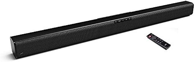 """2018 JVC TH-M327B 37"""" Bluetooth Sound Bar with 2.0 Channel, Dolby Digital, Volume Control, Remote Control, Wall Mountable, USB, Black"""