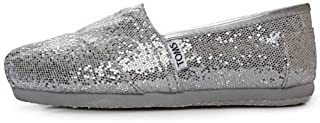 TOMS Woman Classics Glitter Shoes Silver Womens
