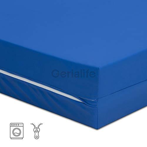 31ZTLGyYuHL - Gerialife® Kit antiescaras | Colchón sanitario impermeable HR | Colchón antiescaras de aire (90x190)
